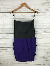 Women's Reiss Corset Dress - UK12 - Black & Purple - Great Condition