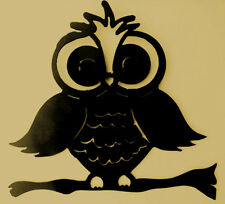 Owl on branch,Wildlife,Cabin,Metal Art,Lodge, forest, woodland, camping, bird