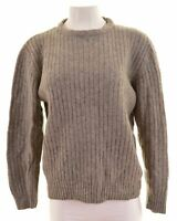 LEVI'S Womens Crew Neck Jumper Sweater Size 16 Large Grey  IF05