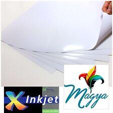 "SIHL Inkjet Printable White Vinyl GLOSS 50 Sheets, 8.5""x11"" Waterproof"