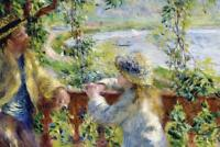Pierre Auguste Renoir By the Water - Poster 24x36 inch