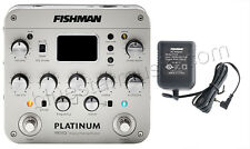 Fishman Platinum Pro-EQ Guitar/Bass Preamp/EQ/DI w/XLR, FREE 910-R POWER ADAPTER