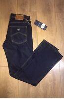 "AJ Armani Jeans Mens Dark Navy Blue 34"" Waist New BNWT Free P&P J45 Style"