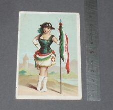 CHROMO 1900-1914 AU CHAT BOTTE CHAUSSURES DRIQUE PARIS / ITALIE MAISON DE SAVOIE