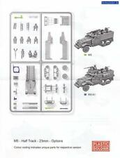 Plastique Soldat Alliés M5 Halftrack 1/72 Maquette Kit 1 - Grappes