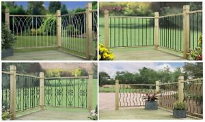 Garden Decking Panels Modern Classic Design Deck Fencing Fence Inserts DIY