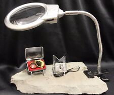 3 Stamp Postcard Magnifier Inspection Kit Microscope LED Lamp Magnifying Lens