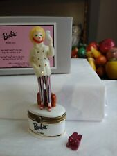 Phb Midwest of Cannon Falls Trinket Box Open Road Barbie w/Tiny Shoes inside Nib