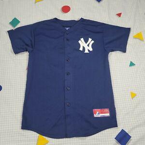 Yankees Majestic Cool Base Blue Jersey Gardner 11 YOUTH XL