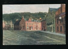 Scotland Roxburghshire MELROSE Street & Cross Used 1910 PPC