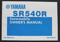 1990 1991 YAMAHA SR540R 540 SNOWMOBILE OPERATORS OWNERS MANUAL NICE