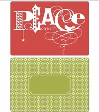 SIZZIX TEXTURED IMPRESSIONS Embossing Folders Peace Set 658752 Christmas