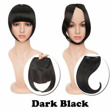 Thick Neat Bangs Real as Human Hair Extensions Clip in on Fringe Front Hairpiece