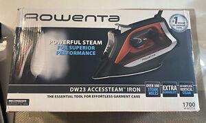 Rowenta DW23 Accessteam Steam Iron 1700 Watts Durable Soleplate CMMF 28200236001