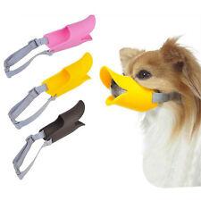 Pet Puppy Dog Cat Muzzle Quack Duck Bill Design Soft Silicone Bite Stop S/M/ Dl