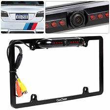 Car Rear View Backup Camera 8 LED IR Night Vision US License Plate Frame +Cable