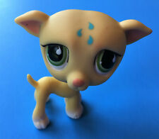 Vintage Littlest Pet Shop ~ Greyhound / Whippet Dog w/ Raindrops 875 ~ Auth Lps