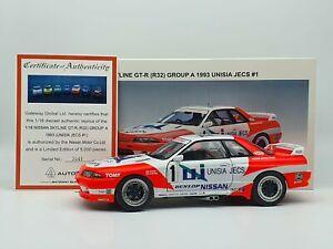AUTOart 1993 Nissan Skyline GTR R32 Group A Unisia Jecs #1 1:18 Scale Model Car