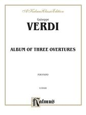 Kalmus Verdi Album of Three Overtures For Piano Music Book Brand New On Sale