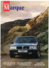 Lancia The Marque Magazine Autumn 1987 UK Market Brochure Delta HF 4WD 037 Rally