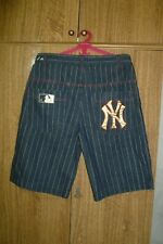 New York Yankees Majestic MLB Baseball Jeans Shorts Dark Blue Men Size XL