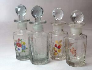1 x Empty Patterned Glass Indian Decanters Collectables Aromatherapy 100 ml
