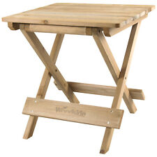 More details for woodside folding coffee side snack table wooden garden patio furniture