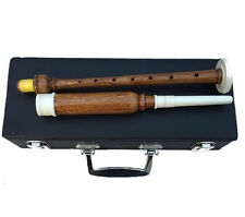NEW BAGPIPE PRACTICE CHANTER ROSEWOOD NATURAL COLOR IMMATION IVORY AMOUNT/Reeds