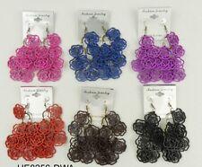 A-87 Colorful wood dangle drop earrings 6 pairs fashion  wholesale lot  M33