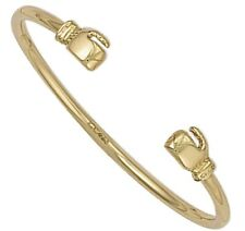 9CT GOLD  CHILDS/BABY BOXING GLOVE TORQUE BANGLE  - UK JEWELLERS