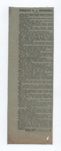 Torquay 0 Coventry City 0 25th April 1931 3nd Division South press cutting
