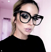 XXL OVERSIZED Cat Eye MISS GORGEOUS  Clear Lens Eyeglasses Glasses SHADZ