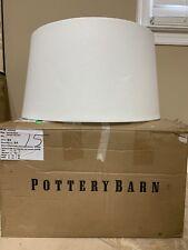 NEW Pottery Barn Jessa Tapered WHITE Lamp Shade *Minor Dings*