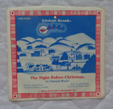 "Scholastic Records The Night Before Christmas / Christmas Time Is Coming 7"" lp!"