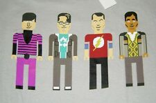 Big Bang Theory Pixel Gang Guys Adult T-Shirt  Officially Licensed Merchandise