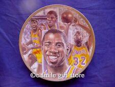 """Sports Impressions *MAGIC JOHNSON* Lakers Basketball  8 1/2"""" LE Plate MIB w/COA"""