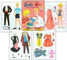 Barbie and Ken Vintage Paper Dolls  - Reproduction
