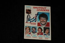 HOF BERNIE PARENT 1978-79 TOPPS LEADERS SIGNED AUTOGRAPHED CARD #70 FLYERS