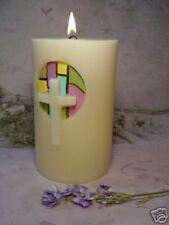 Inspirational-Stained Glass- Pillar Candle