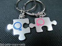Cupid Jigsaw Arrow Heart I LOVE YOU Keychain Lovers Couple Gift Keyring UKSELLER