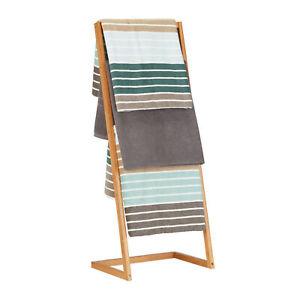 Handtuchhalter freistehend Handtuchleiter Handtuchstangen Handtuchständer Bambus