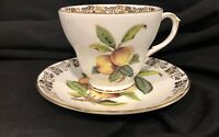 Vintage Duchess England Bone China Peaches Tea Cup and Saucer Set