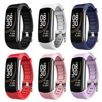 C6T Wasserfest Smart Uhr Blutdruck Fitness Tracker Smart Armband #R