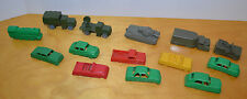 VINTAGE PLASTIC MILITARY VEHICLE AND CAR TOY LOT LIDO MOHAWK MPC 1950'S 1960'S