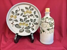Vintage French Betschdorf Alsace Gres Au Sel Pottery Jug and Plate