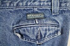 ROY ROGERS Jeans Mens measures 34 x 31 Medium blue Made in ITALY pocket flaps