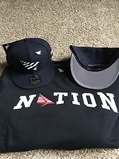 ROC NATION NAVY BOY YANKEE BLUE SNAPBACK HAT WITH PIN ! JAY-Z HAT
