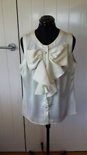 Contony ivory sleeveless blouse Top Size 16 Brand new with tags