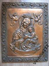 Vintage Copper Wall Art Picture Mother of God. Electroforming. Copper.