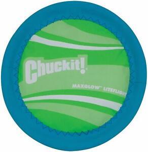 (4 Pack) Chuckit! Max Glow Lite Flight 10 inch Dog Frisbee